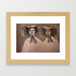 Sunbonnet Sisters Framed Art Print