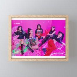 Itzy Kpop New Girl Group Framed Mini Art Print