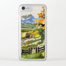 Found Tapestry Landscape Clear iPhone Case