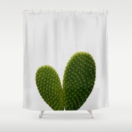 Heart Cactus Shower Curtain
