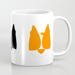 Colorful Minimalist Boston Terrier Art Coffee Mug