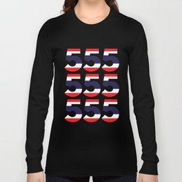 555  Thai flag Long Sleeve T-shirt