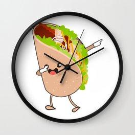 Dabbing Taco Cinco de Mayo Mexican Wall Clock