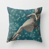 whatever Throw Pillows featuring Whatever by Imogen Art