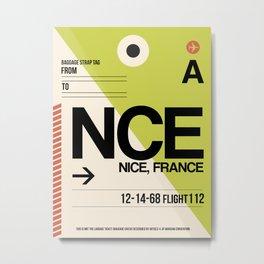 NCE Nice Luggage Tag 2 Metal Print