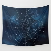 map Wall Tapestries featuring Celestial Map by Rose's Creation