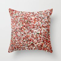 sparkles Throw Pillows featuring Sparkles by Sharon Johnstone