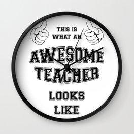 AWESOME TEACHER Wall Clock