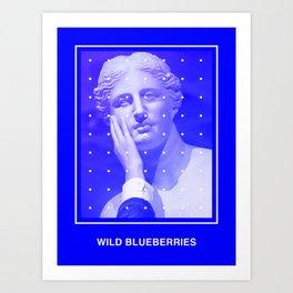 Wild Blueberries Art Print