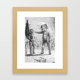 The Flying Moleman was NOT to be Intimidated Easily Framed Art Print