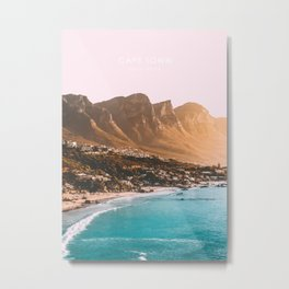 Cape Town, South Africa Travel Artwork Metal Print