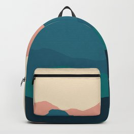 Sunset rolling mountains Backpack