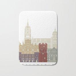 Salamanca skyline poster Bath Mat