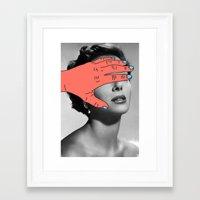 Framed Art Prints featuring Burning Hands by Tyler Spangler