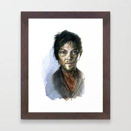 Daryl Dixon Portrait Framed Art Print