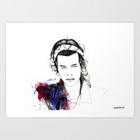 harry styles Art Prints featuring Harry Styles by Mariam Tronchoni