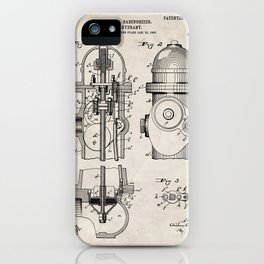 Fire Fighter Patent - Fire Hydrant Art - Antique iPhone Case