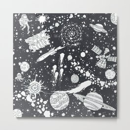 Space Stuff Metal Print