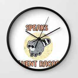 Raccoon Squirrel Ringtail Coon Mammal  Animal Gift Wall Clock