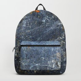 Abstract Signs on Dark Metal Backpack