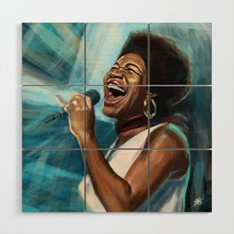 Aretha Franklin Still Sings Wood Wall Art