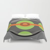 pokeball Duvet Covers featuring Dusk Pokeball by Pi Design Prints