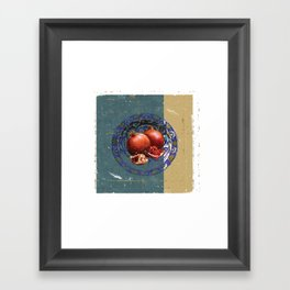 The Fine Art of Pomegranate in the Antique Plate! Framed Art Print