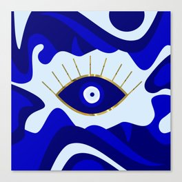 Lava All Seeing Evil Eye Canvas Print