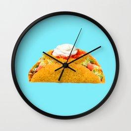Taco LOVE on Aqua Mmmm! Wall Clock