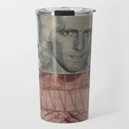 Bird in a Cage - Vintage Collage Travel Mug