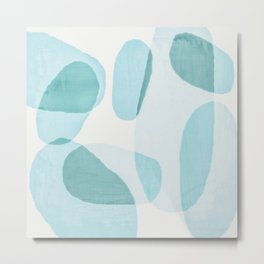 Overlapping Ovals Metal Print