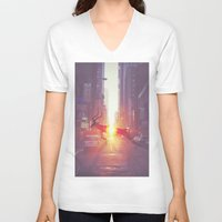 tame impala V-neck T-shirts featuring Tame Impala by Joey Grande