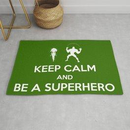 Keep Calm and Be a Superhero Rug