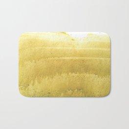 Sunny yellow abstract Bath Mat