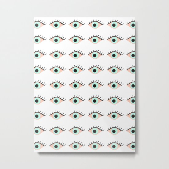 Sweet Evil Eyes Metal Print
