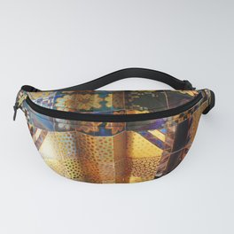 Venice venezia biennale detail Italy photo photography digital floral gold colors Fanny Pack