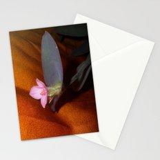 Purple Spiderwort on Orange Stationery Cards