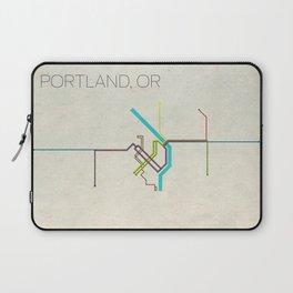 Minimal Portland, OR Metro Map Laptop Sleeve