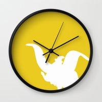 dumbo Wall Clocks featuring Dumbo  by JessicaSzymanski