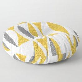 Seventies in Mustard Floor Pillow