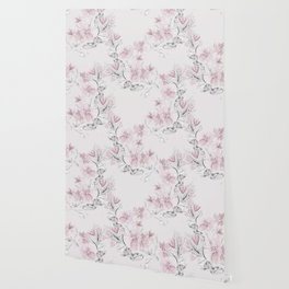 Delicate floral pattern. Wallpaper