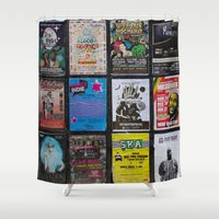 music notes Shower Curtains featuring Poster Notes by Bestree Art Designs