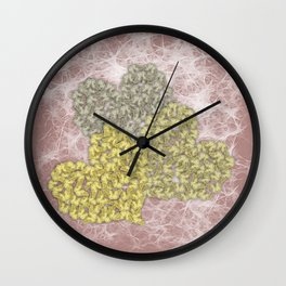Fading butterfly hearts Wall Clock