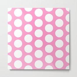 White circles on pink Metal Print