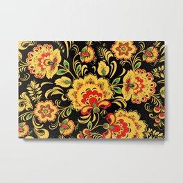 Khokhloma pattern Metal Print