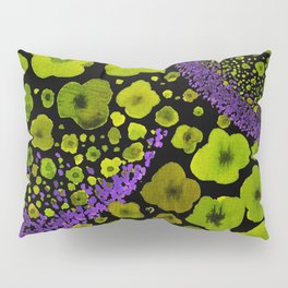 Paths of Color [green & purple] Pillow Sham