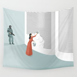 Banned From Literacy Wall Tapestry