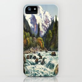 Mountains Forest Rocky River iPhone Case