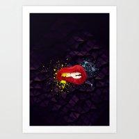 Her Lips Art Print