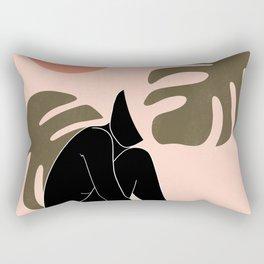 black nude 3 Rectangular Pillow